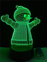 Load image into Gallery viewer, Christmas Xmas Snowman 3D USB LED Lamp