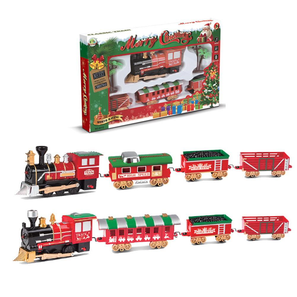 Christmas Electric Track Train Classic Rail Car with Light Music