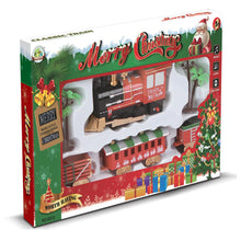 Load image into Gallery viewer, Christmas Electric Track Train Classic Rail Car with Light Music