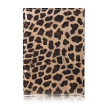 Load image into Gallery viewer, TRASSORY 2019 Leather Wild Leopard Style Passport Cover Case with Card Case and Cash Holder