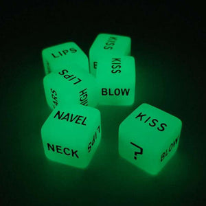 2pcs Funny Love Dice Glow in Dark Adult Couple Lovers Games