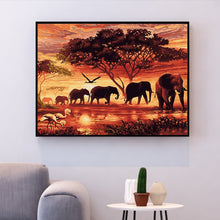 Load image into Gallery viewer, Number Painting Kits DIY Home Decoration Elephant 🎨