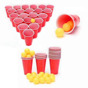 Beer Pong Kit Party Fun 24Cups 24 Balls Drinking Game
