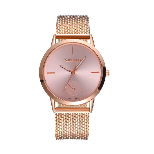 YOLAKO Luxury Brand Women Watches High Hardness Glass Mirror