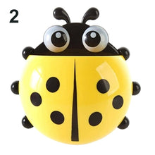 Load image into Gallery viewer, Ladybug Toothbrush Holder Suction Ladybird Wall Sucker