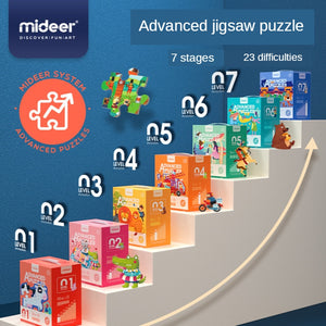 MiDeer Advanced Tangram Jigsaw Puzzles For Children Kids from 1.5Y+ to 7Y+