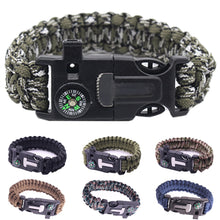 Load image into Gallery viewer, Military Emergency Paracord EDC Bracelet Multifunction Field