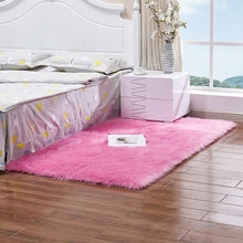 Load image into Gallery viewer, Luxury Rectangle Square Soft Artificial Wool Sheepskin Fluffy Carpet