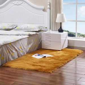 Luxury Rectangle Square Soft Artificial Wool Sheepskin Fluffy Carpet