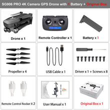 Load image into Gallery viewer, SG906 PRO GPS Drone Con 2-axis Anti-shake 4K Quadcopter VS F11 ZEN K1