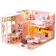 Load image into Gallery viewer, DIY Doll House Miniature Dollhouse Furniture Kit with LED