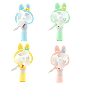 Cartoon Rabbit Hand Pressure Fan Water Spray