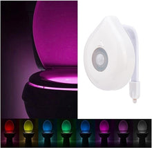 Load image into Gallery viewer, Smart Motion Sensor 8 Colors LED WC Toilet Light