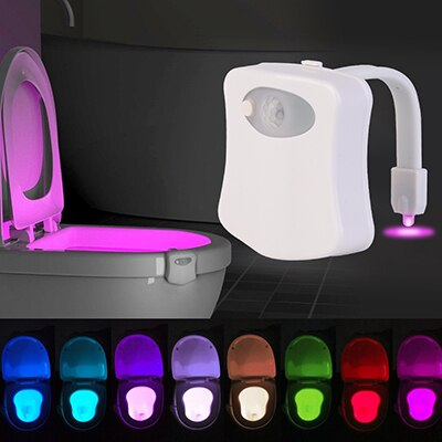 Smart Motion Sensor 8 Colors LED WC Toilet Light
