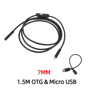 7mm 5.5mm Endoscope Camera Flexible IP67 Waterproof Micro USB for Android Phone PC 6LED