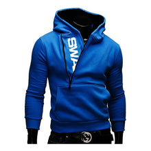 Load image into Gallery viewer, Hoodies Laamei Men Fashion Oblique Zipper Patchwork Tracksuit Sweatshirt