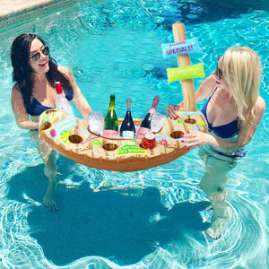 Inflatable Pool Float Inflatable Cup Holder Drink Holders Stand Bar Tray
