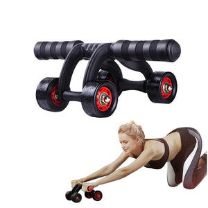 4 Rolls Ab Roller Abdominal Muscle Trainer