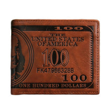 Load image into Gallery viewer, Leather Men Wallet Fashion Dollar Price Wallet