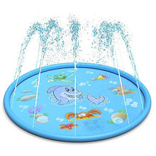 Load image into Gallery viewer, 67-inch Inflatable Spray Swimming pool Lawn Game Sprinkler Play Toys Outdoor