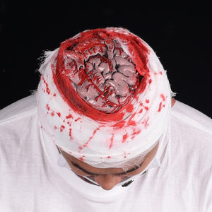 Simulation Bloody Brain Hat Scary Halloween Cosplay Costume