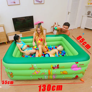 Inflatable Pool Baby Swimming Pool Outdoor Children Basin Bathtub Kids Pool