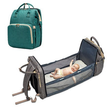 Load image into Gallery viewer, Baby Backpack Diaper Bag Bed