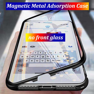 Magnetic Metal Adsorption Glass Case for iPhone