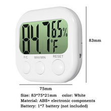 Load image into Gallery viewer, LCD Digital Thermometer Hygrometer Calendar Clock Weather Station Large Screen