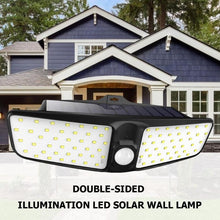 Load image into Gallery viewer, 80 LED Solar Power Motion Sensor Wall Lamp