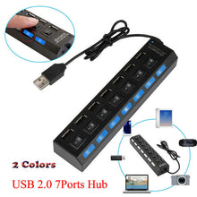 Load image into Gallery viewer, 7-Port USB 2.0 Multi Charger Hub ON/OFF Switch