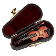 Load image into Gallery viewer, Gifts Violin Music Instrument Miniature Replica with Case 8x3cm