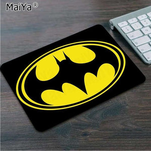 Maiya Hot Sales Batman logo Rubber PC mousepad Keyboards Mat