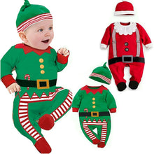 Load image into Gallery viewer, Newborn Infant Baby Boy Girl Christmas Santa Clothes Romper Hat