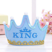 Load image into Gallery viewer, Princess LED Light Birthday Party Hats Crown Birthday Party Cap