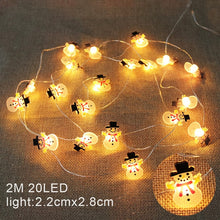 Load image into Gallery viewer, 2M 20LED Santa Claus Snowflake Tree LED Light String Christmas Decoration For Home 2020 Christmas Ornament Xmas Gift New Year