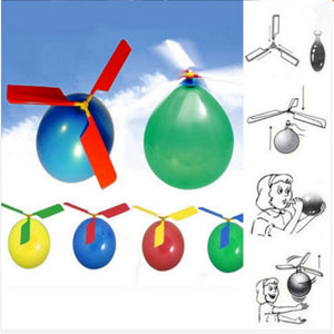 Traditional Mechanical Balloon Helicopter 10pcs