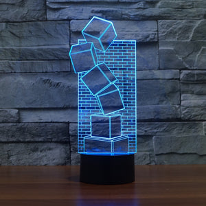 3D LED Table Illusion Lamp Christmas Prank Gift
