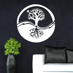 Ecosphere Tree Symbol Wall Sticker 🔮🌲 White