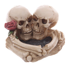 Load image into Gallery viewer, Skull Lovers Ashtray Decorative Romantic Skeleton Heads