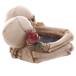 Skull Lovers Ashtray Decorative Romantic Skeleton Heads