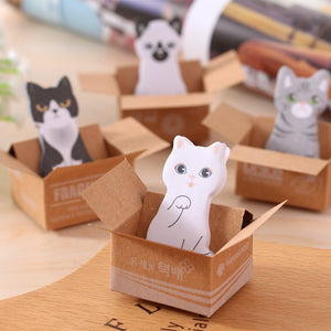 4Pcs Kawaii Cat Animal Memo