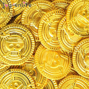 Pirate Treasure Gold Coins 50pcs