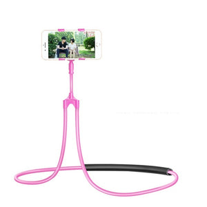 Flexible Lazy Neck Phone Holder Pink