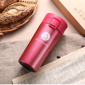 Enjoy This Moment 380ml Stainless Steel Vacuum Flask Thermos Coffee Cup