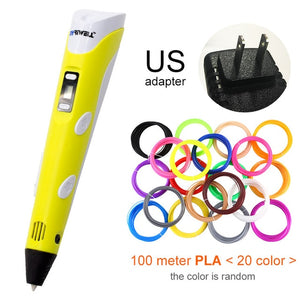 Scribbler V2 3D Pen LED For Kids Design Drawing