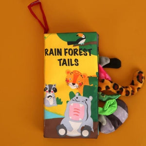 Baby Cloth Books Early Learning Educational Toys with Animals Tails