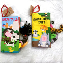 Load image into Gallery viewer, Baby Cloth Books Early Learning Educational Toys with Animals Tails
