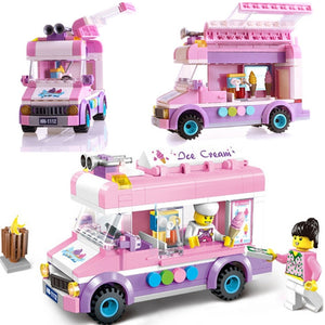 Ice Cream and Pizza Truck Building Blocks Sets Lego Compatible