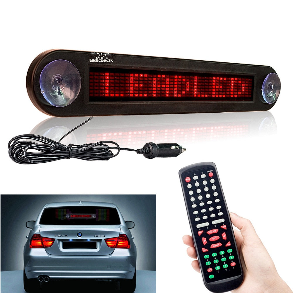 12V 30cm Red Car LED Sign